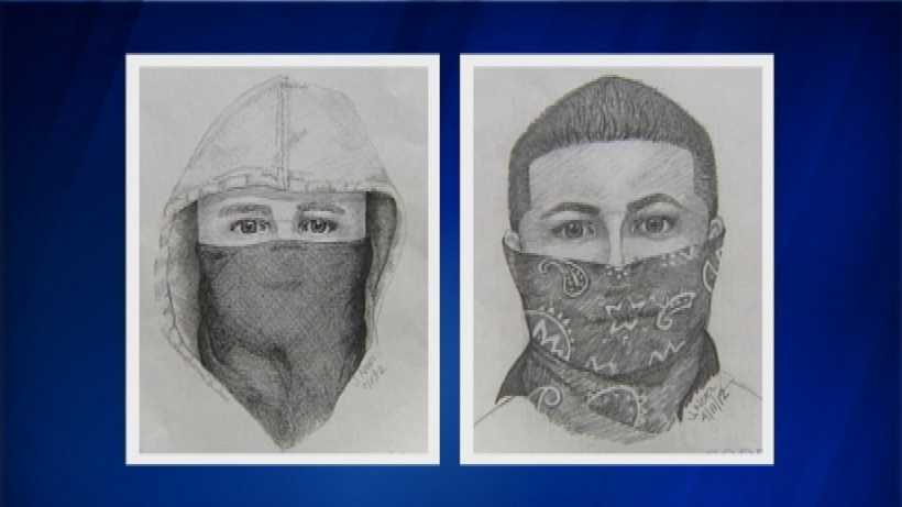 Composite sketches released by police in the Sept 1 attack (left) and previous attack (right)
