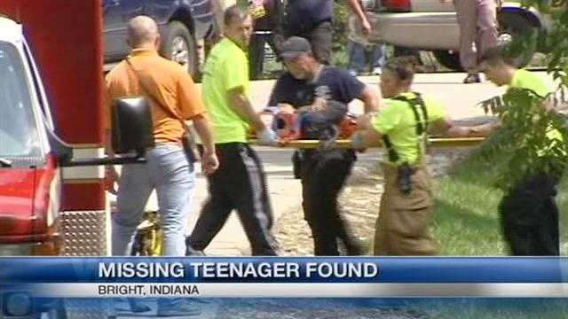 Police have located a Lawrenceburg, Indiana teen after she was reported missing Monday.  Sonya Balsley, 16, was located Tuesday afternoon in a creek bed about 1.5 miles from her home.