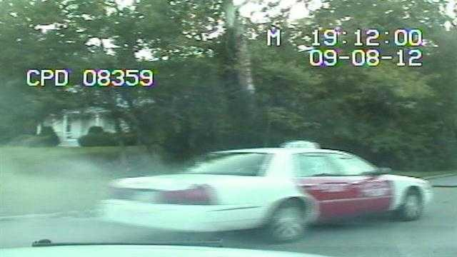 Cruiser camera video of a police pursuit of a stolen taxi cab was released Wednesday. The video does not show the end of the chase.