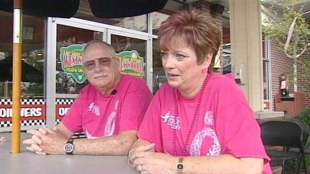 A local couple who battled breast cancer together are now helping others in their fight.