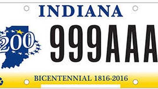 New Indiana plates
