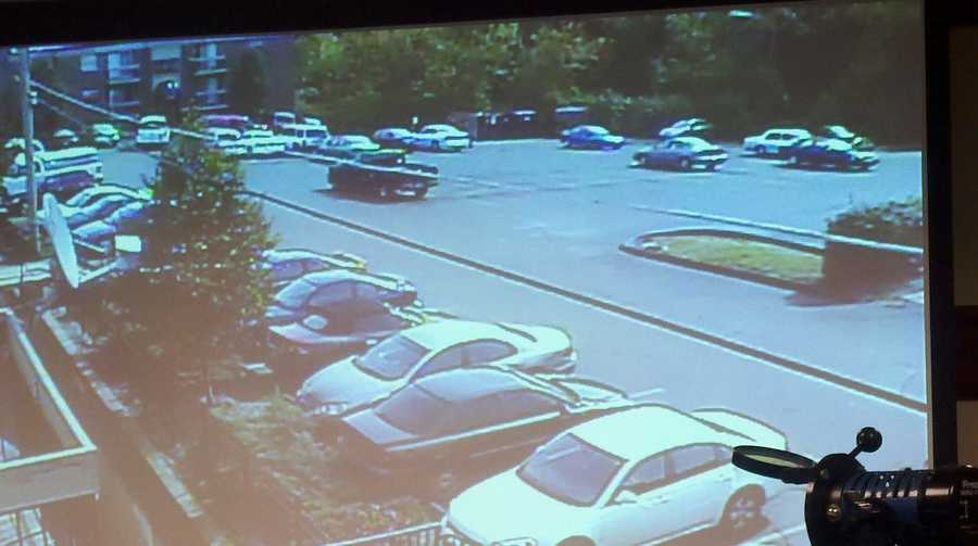 Police Chief James Craig showed surveillance video from a Mt. Airy apartment complex where Erica Collins was shot and killed by a Cincinnati police officer Saturday.