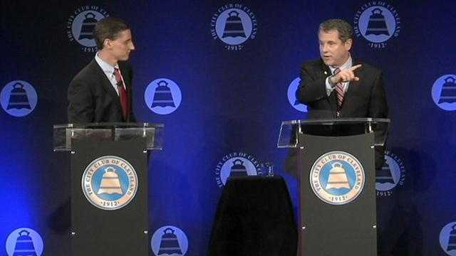 Josh Mandel and Sherrod Brown face off at their first debate.