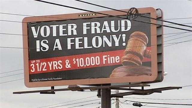 Voter fraud billboards