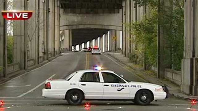 A woman is seriously injured in a crash that shut down Western Hills Viaduct for two hours.