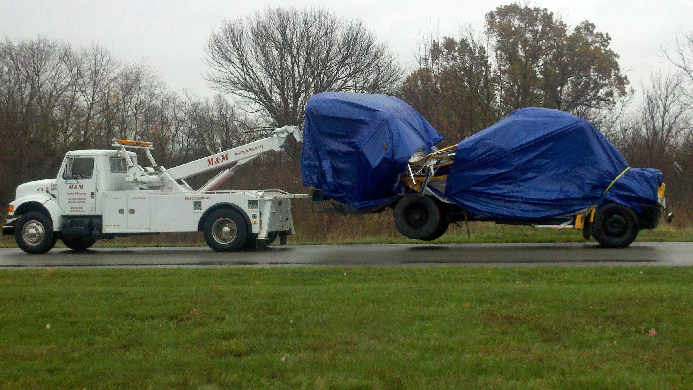 Carroll Co bus towed