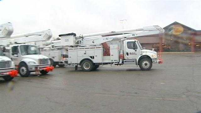 Duke employees left Cincinnati today to move east and help restore power after Hurricane Sandy