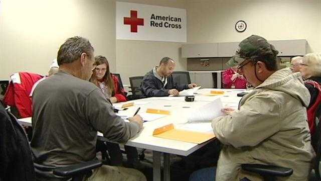 Volunteers with the Cincinnati chapter of the Red Cross are preparing to leave and help with Sandy relief