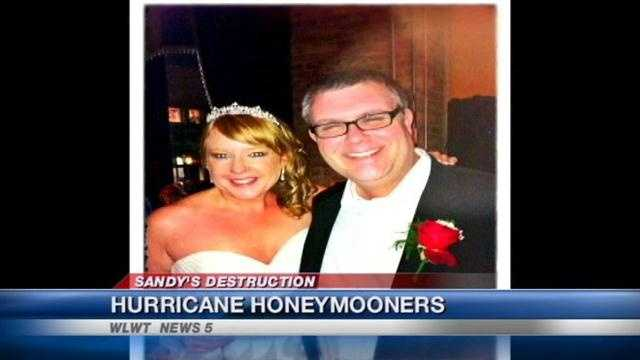 A local couple experienced Hurricane Sandy firsthand during their honeymoon cruise