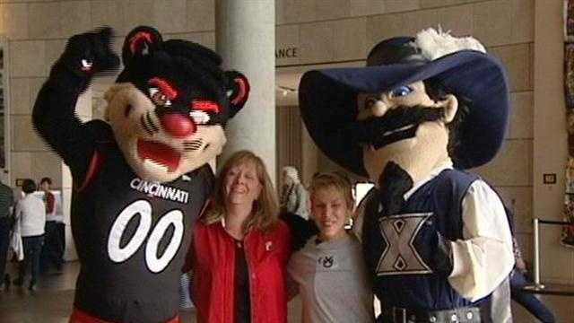 We all remember the brawl on the court last year, but now, UC and Xavier students are joining forces, to raise awareness for the Freedom Center.
