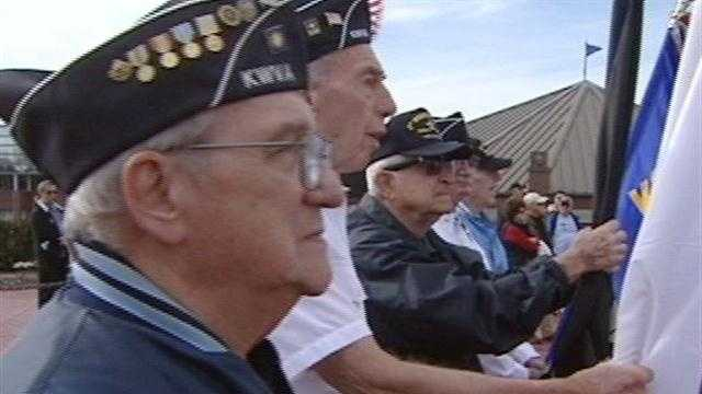 The community of Blue Ash honored local veterans Sunday morning in a ceremony at the park, dedicated to those who have served.