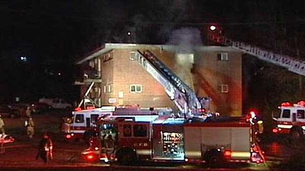 Fire damages Westwood apartment building