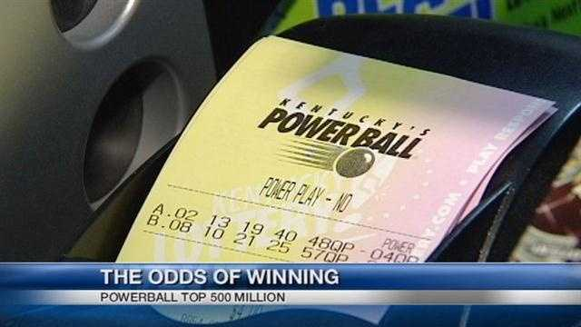 People in Cincinnati are trying their luck at the $500 million Powerball drawing on Wednesday.