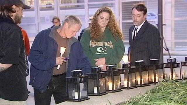 A special candlelight vigil was held Monday night to honor the 11 people who died at a concert by the Who 33 years ago.