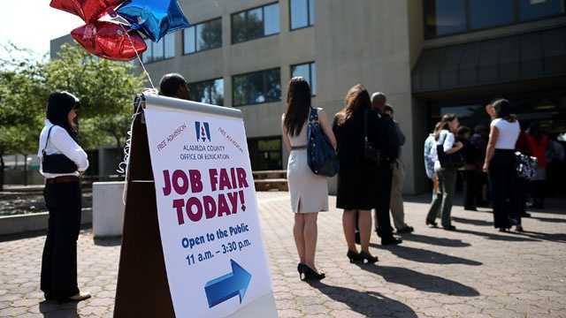Job fair, job fair line