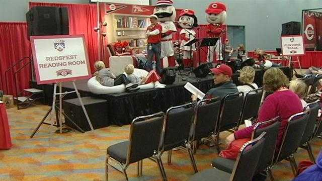 Reds fans attended an annual event downtown Saturday: Redsfest 2012.