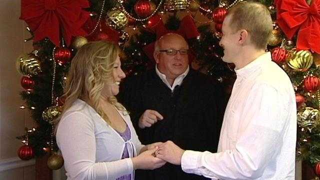 Newlyweds are hoping that Wednesday's date – 12/12/12 – will bring their marriage good luck.