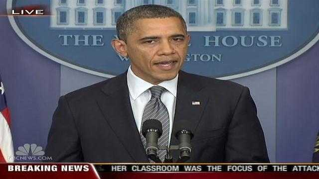 President Obama offered brief remarks Friday afternoon about the Newtown, Connecticut, school shooting.