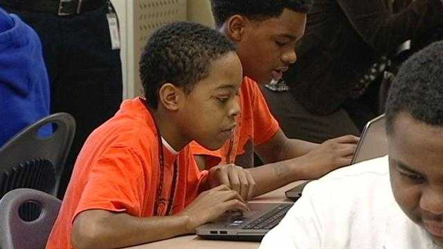 Students at Withrow University High School will receive new laptops.