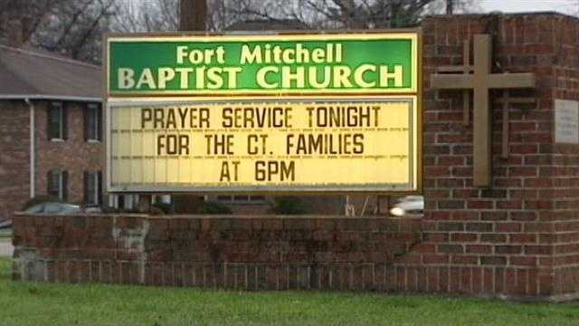 A Ft. Mitchell church held a vigil Saturday night for those killed in a Connecticut school shooting.