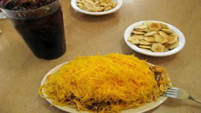8. When someone says Cincinnati, the first thing I think of is Skyline Chili. It's my favorite food and I always get a 4-way with beans and a chili cheese sandwich without mustard and onions.