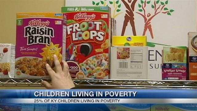One in four Kentucky children live in poverty, and the number is rising.