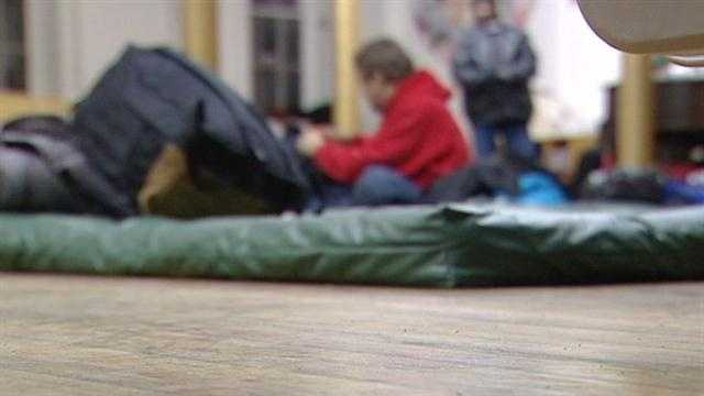 The recent bitter cold has forced many of the homeless into area shelters.