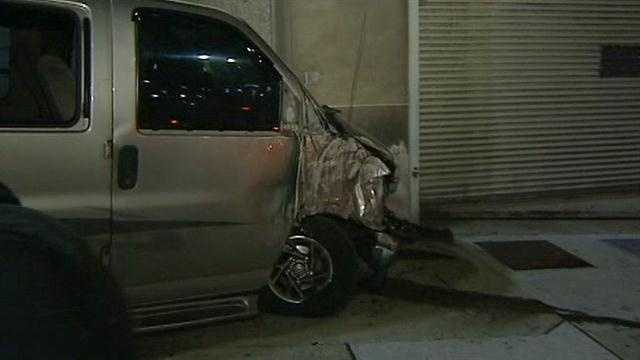 Police are looking for the driver of a vehicle that crashed early Friday morning.