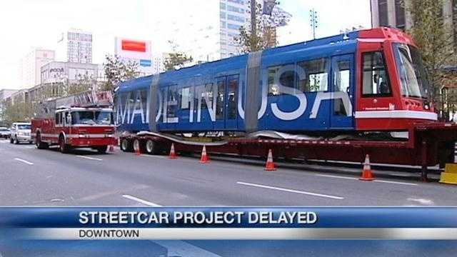 The new Cincinnati streetcar project has been delayed again. Now the city is saying it won't be ready for riders until the spring of 2016.