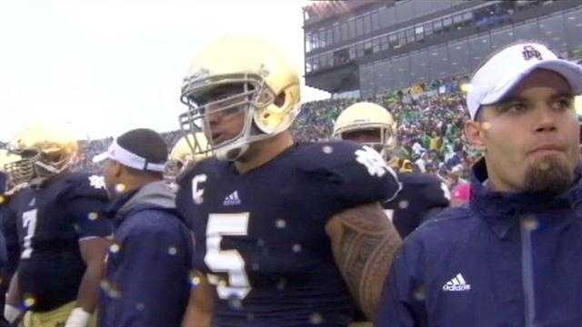 A story about Manti Te'o's girlfriend dying of leukemia, which the Notre Dame All-American credited with inspiring him as he led the Fighting Irish to the BCS title game, turned out to be a hoax apparently perpetrated against the linebacker, the school says.