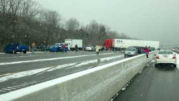 Image from the I-75 crash between Middletown and Monroe