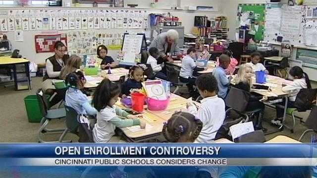 The Cincinnati Public School Board will vote on a controversial new enrollment plan.