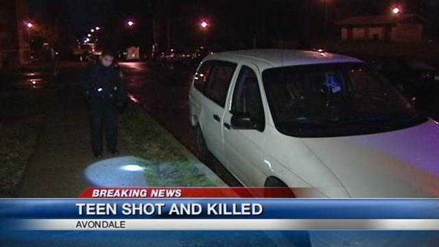 Police say a 19-year-old is killed in a shooting in Avondale on Wednesday evening.