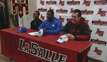 La Salle's DeveJuan Brown-Norris and David Baumer will join teammate Jaleel Hytche at the University of Kentucky as preferred walk-ons.