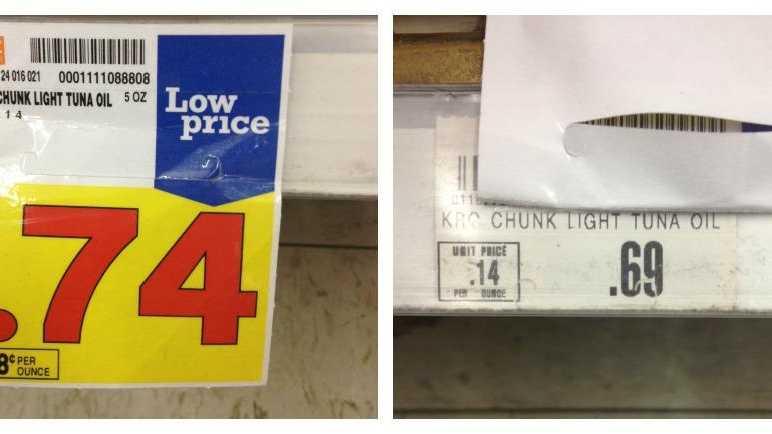 Kroger prices on tuna