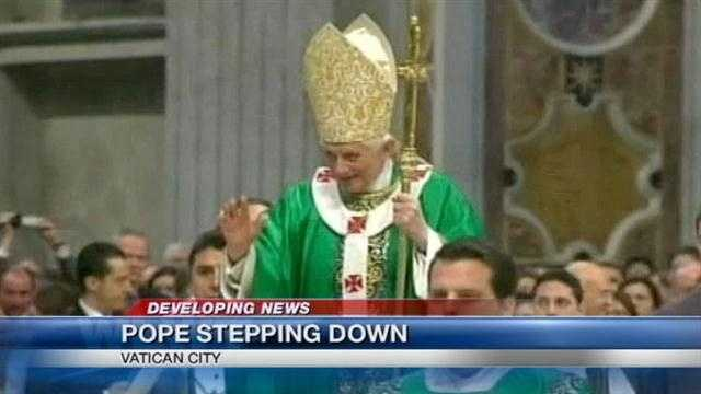 Local Catholic leaders expressed support for Pope Benedict XVI as he announced his decision to resign by the end of the month.