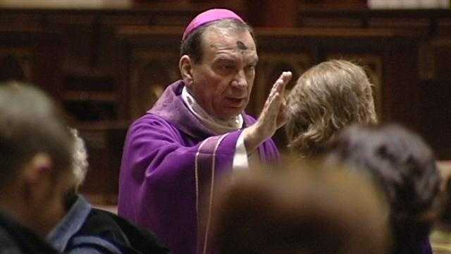 Cincinnati's archbishop spoke on Ash Wednesday about Pope Benedict XVI, who's stepping down at the end of the month.