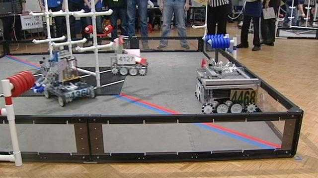 Teams from across the tri-state participate in an annual robotics competition.