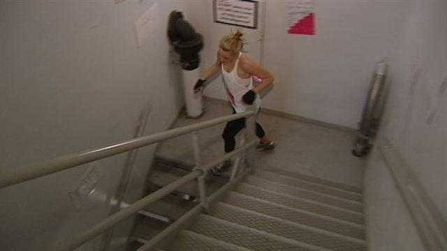 Hundreds of people climbed stairs to raise money for a good cause.