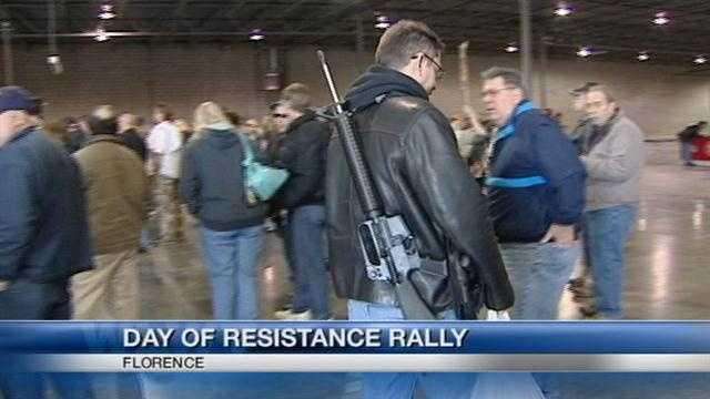Opponents of proposed gun law changes rally in parts of the tri-state.