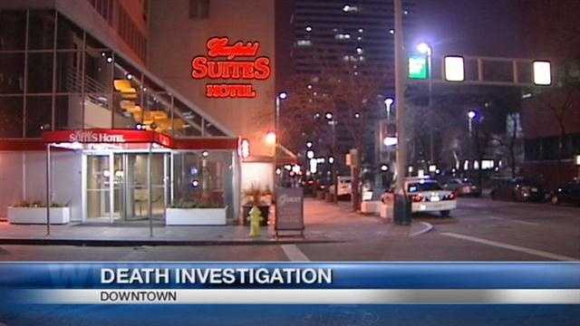 A man died after accidentally falling from a Cincinnati hotel early Sunday, police said.