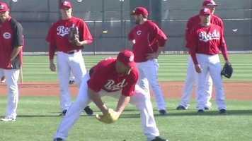 Broxton fielding a ball.