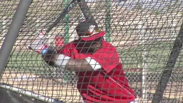 Brandon Phillips during batting practice.