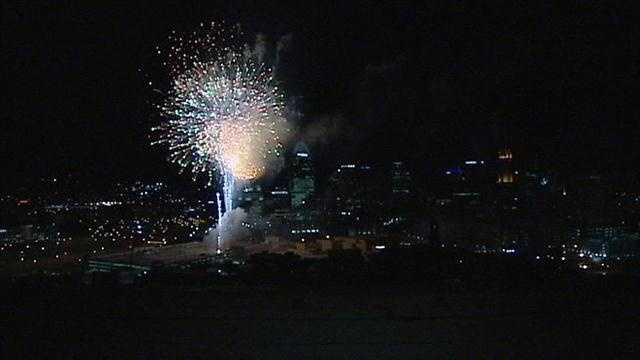 The new Horseshoe Casino Cincinnati opened Monday night with fireworks over downtown.