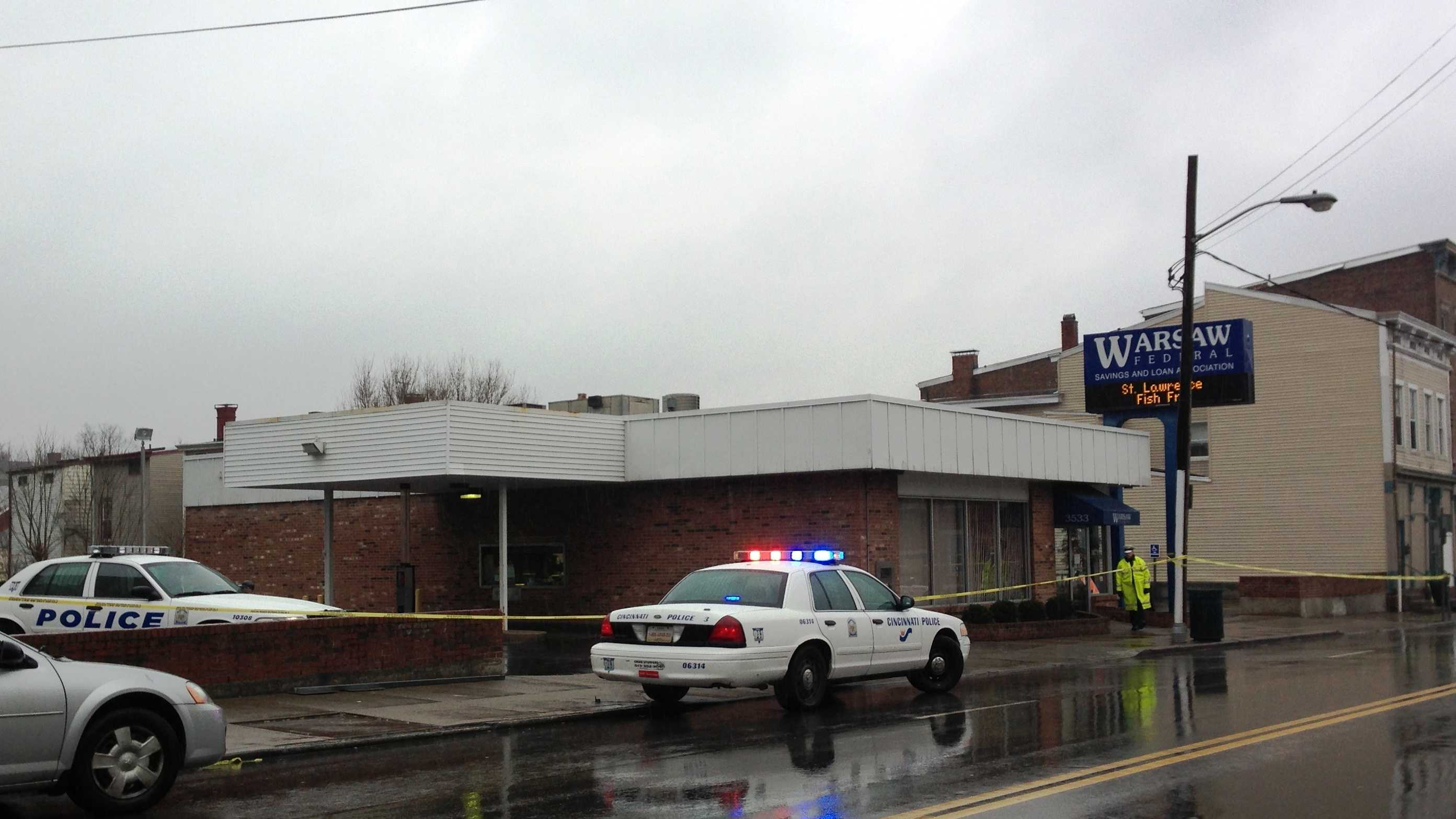 Warsaw Ave bank robbery