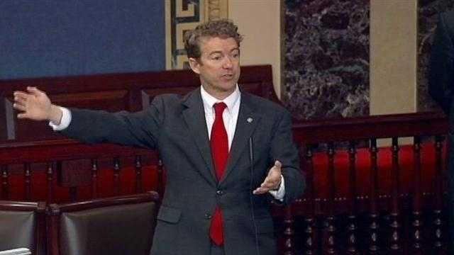 Rand Paul filibuster ends after 13 hours