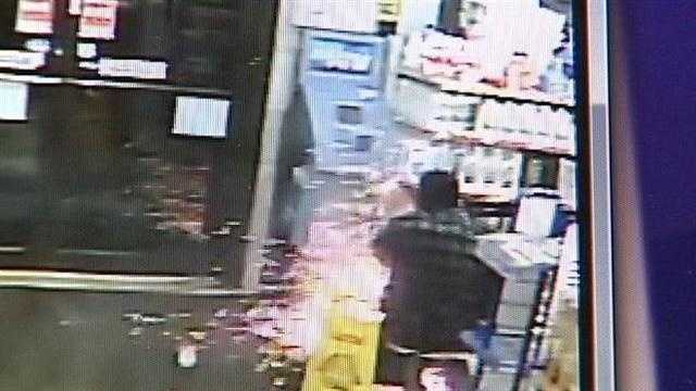 Police are looking for three men accused of breaking open an ATM during a robbery of a Madeira convenience store.