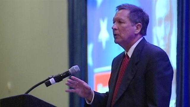WLWT talks with Gov. John Kasich about his budget and education plans.