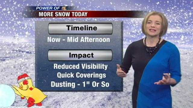 We had a taste of spring temperatures this weekend, but snow showers have returned to the Tri-state.