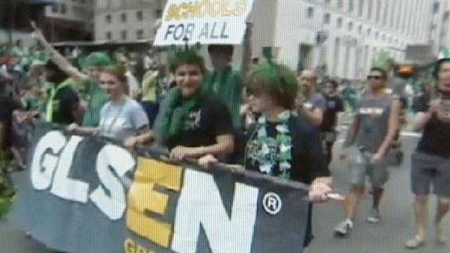 A Cincinnati city councilman says a local chapter of a gay and lesbian education group has been banned from marching in Cincinnati's St. Patrick's Day Parade.